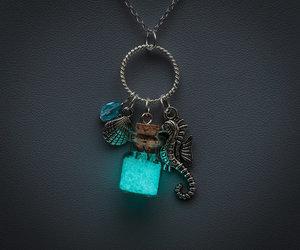 blue, jewelry, and kawai image