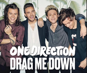 one direction, drag me down, and Harry Styles image