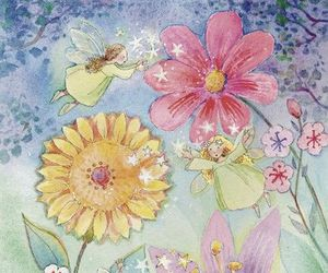 angels, Dream, and flowers image