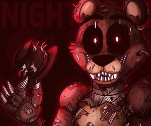 fnaf 4, scary, and freddy fazbear image