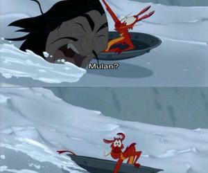 mulan, disney, and funny image