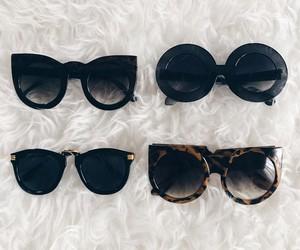 sunglasses, black, and glasses image