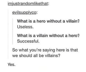 funny, hero, and villain image