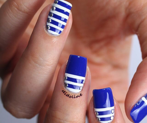 nails, blue, and dress image