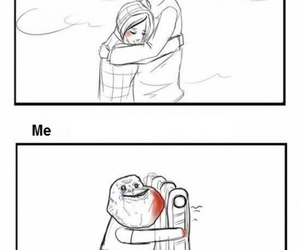 forever alone, funny, and couple image