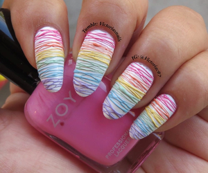 nails, rainbow, and art image