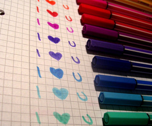 love, colors, and heart image