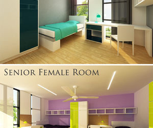 bedroom, boarding school, and decoration image