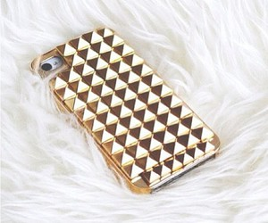 gold, iphone, and fashion image