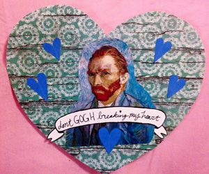 art, heart, and van gogh image