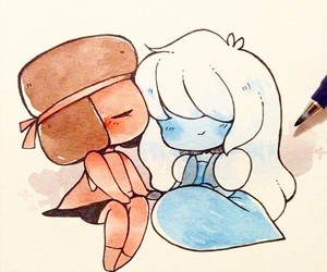 steven universe, ruby, and sapphire image