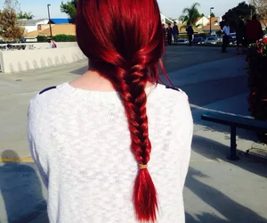 hair, red, and love image