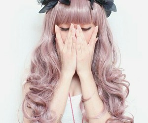 girly, hair, and pastel image