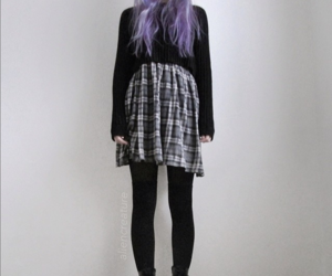 fashion, purple, and black image