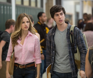paper towns, nat wolff, and halston sage image