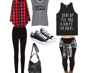 Polyvore, polyvore outfits, and flannel outfits image