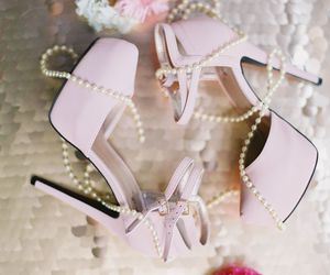 fashion, pink, and high heels image