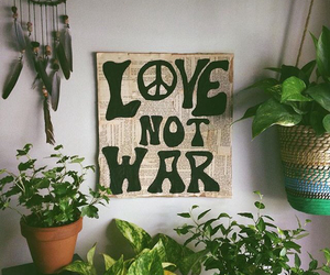 peace, love, and plants image