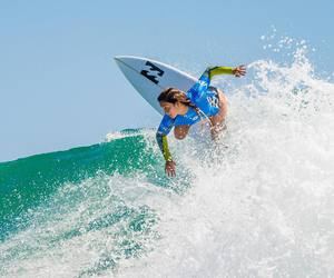 california, summer, and surf image