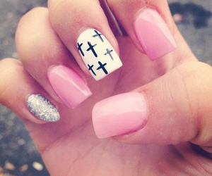 girly, pretty, and cute nails image