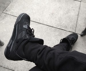 black, shoes, and jordan image