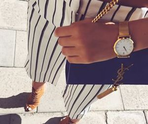 blue and white, outfit, and street style image
