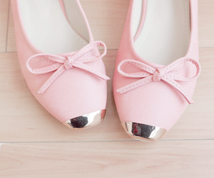 shoes, pink, and girly image