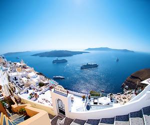 summer, Greece, and santorini image