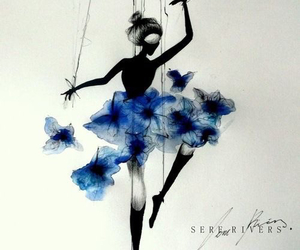 ballet, classic, and flowers image
