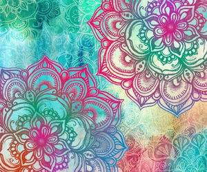 art, flowery, and color image
