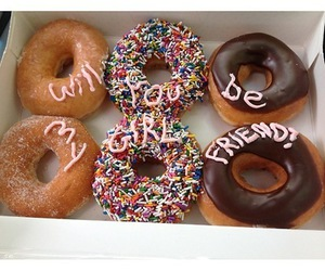 donuts, girlfriend, and food image