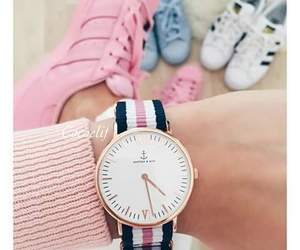 pink, adidas, and watch image