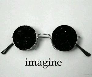 imagine, glasses, and stars image
