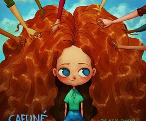 hair, cafuné, and cafune image