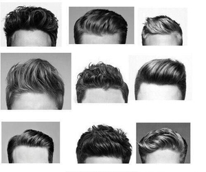 boy, hair, and hairstyle image