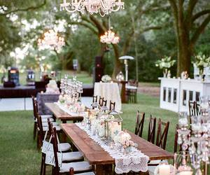 garden, party, and wedding image