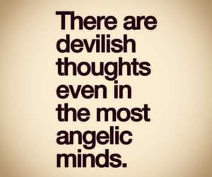 quote, Devil, and thoughts image