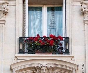paris, flowers, and balcony image