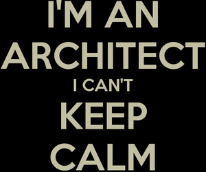 architect and keep calm image