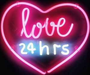 love, neon, and pink image