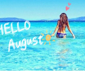 August, beach, and Hot image