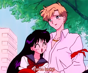 sailor moon, sailor mars, and sailor uranus image