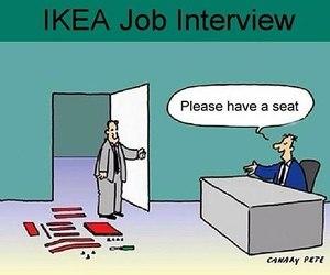 ikea, funny, and job image