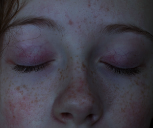 freckles, girl, and pale image