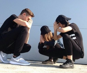 black, nike, and friends image