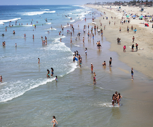 beach, california, and huntington beach image