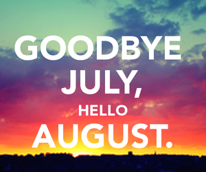 August, summer, and july image