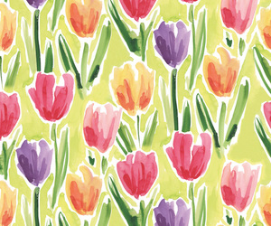 painting, tulips, and wallpaper image