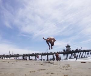 beach, california, and flip image
