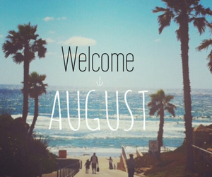 August, beach, and escape image